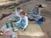 Picknick auf der Insel