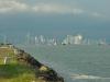 Panama City kurz vor einem Gewitter