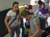 Gepäckausgabe auf Bocas