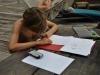 Tristan am Zeichnen